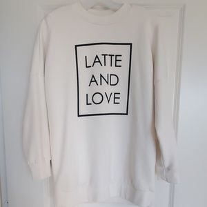 'Latte And Love' Sweatshirt